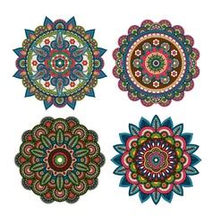 Meditation round ornaments vector image