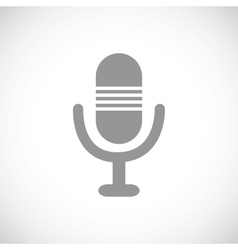 Microphone black icon vector