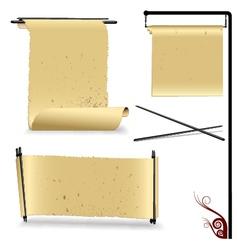 perchament paper vector image