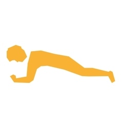 Person exercising in gym vector