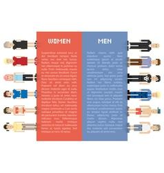 Pixel men and women vector image vector image