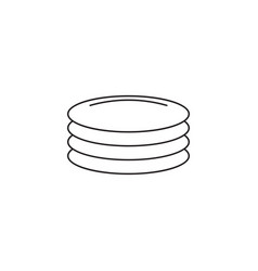 plates dishes line icon outline sign vector image vector image
