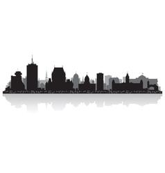 Quebec Canada city skyline silhouette vector image vector image
