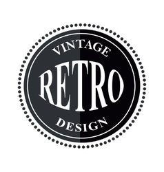 Retro vintage logo template vector