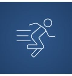 Running man line icon vector