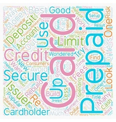 Secured and prepaid credit cards text background vector