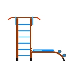 Sports staircase trainer exercises gymnastics vector