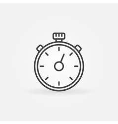Timer line icon vector image