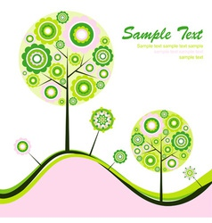 tree abstract background vector image vector image