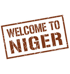 Welcome to niger stamp vector