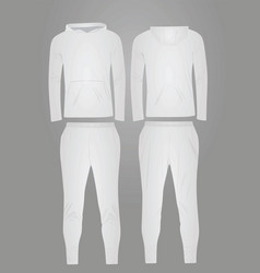 White hooded tracksuit vector