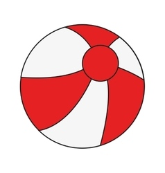 Beach ball icon vector