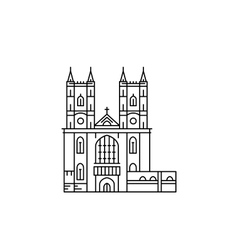 Westminster abbey attraction vector