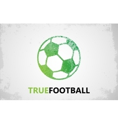 Football logo Ball logo design Football ball vector image