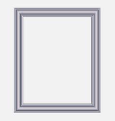 modern silver frame vector image
