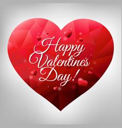 Happy valentines heart vector