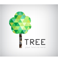 Modern crystal tree logo eco organic icon vector