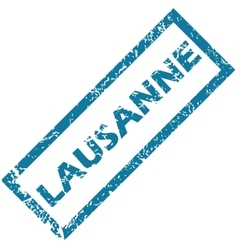 Lausanne rubber stamp vector
