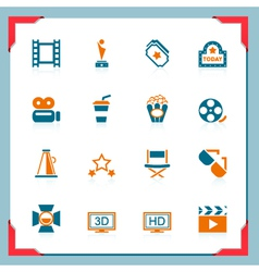 movie icons - in a frame series vector image