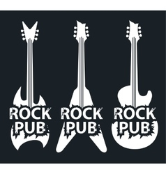 pub with rock music vector image