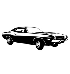 American muscle car vector