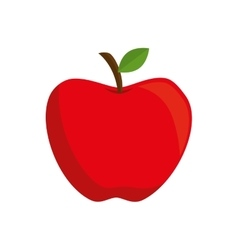 Apple red school vector