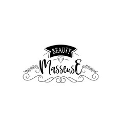 Badge for small businesses - beauty salon masseuse vector