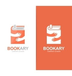 book and hands logo combination Novel and vector image