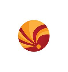 circle arrow business logo vecor vector image vector image