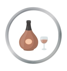 Cognac icon in cartoon style isolated on white vector image vector image