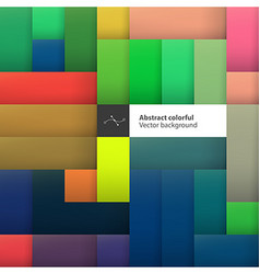 Color squares Abstract geometric colorful vector image vector image