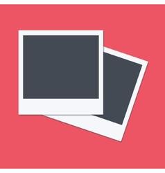 Empty polaroid frames flat design vector image