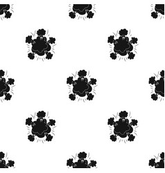 Explosion icon in black style isolated on white vector