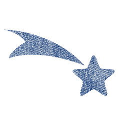 falling star fabric textured icon vector image vector image