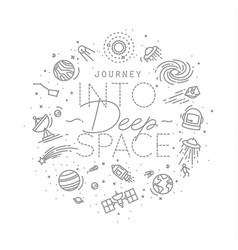 Flat deep space monogram vector