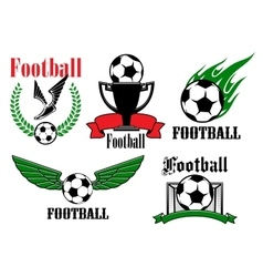 Football or soccer icons and symbols vector image vector image