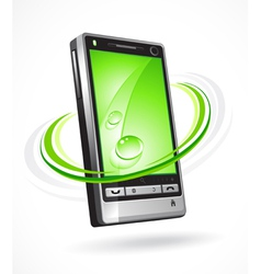 futuristic cellphone vector image vector image