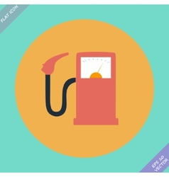 Gas station fuel pump - vector