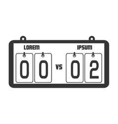 Icon score board goals football american isolated vector