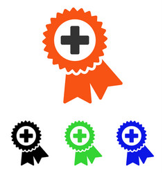 Medical quality seal flat icon vector