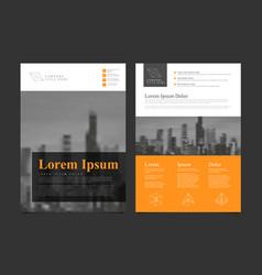 modern business corporate brochure flyer design vector image vector image