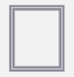 modern silver frame vector image vector image