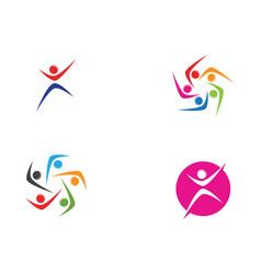 Onion community logo people symbols template vector
