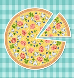 Pizza in flat style vector image vector image