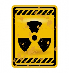 Radioactivity sign vector