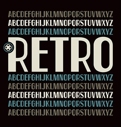 Sans serif font in retro style vector image vector image