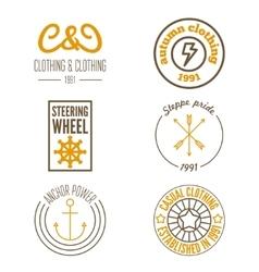 Set of logo sticker emblem print label or vector