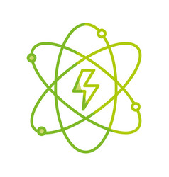 Silhouette energy hazard symbol of power industry vector
