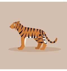 Tiger flat vector