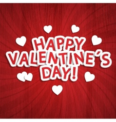 Valentine Day background vector image vector image